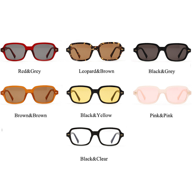 Fashion Unisex Square Sunglasses UV400  6