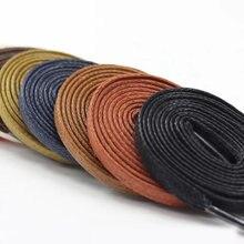 1 пара Водонепроницаемые кожаные шнурки для обуви Вощеные плоские