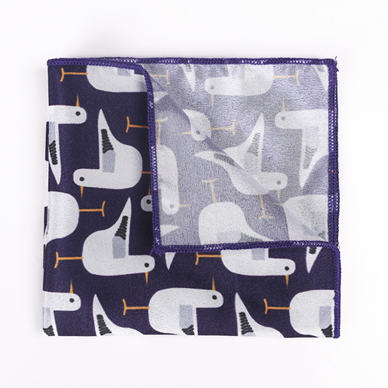 Men's Printed Pocket Towel Floral Square Towel Men's Suit Handkerchief Wholesale Polyester Polyester Small Square Scarf
