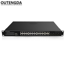 VLAN 32 Port Full Gigabit Managed PoE Switch 10/100/1000Mbps Auto-sensing POE Combo 802.3af/at 802.1Q Poe 400W