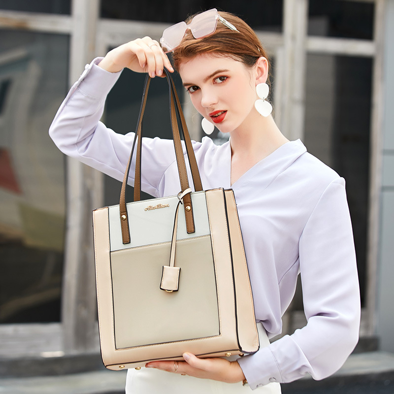 New Leather Laptop Bags For Women Large Capacity Handbag Computer Bag High Quality Shoulder Bag Briefcase Tote Bags Womens Bags