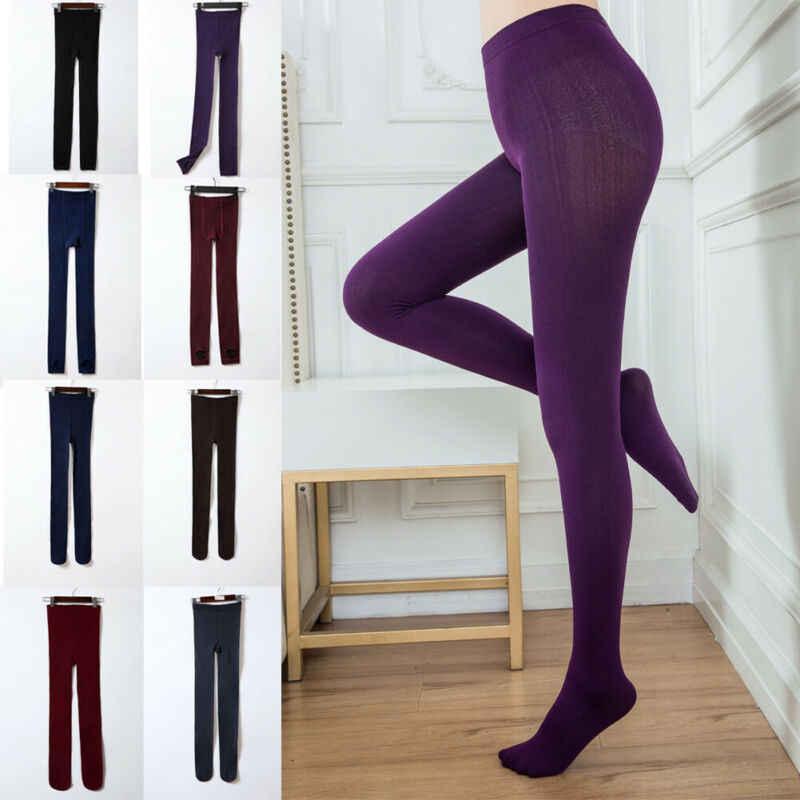 2 stil Yeni Kadın Kablo Örgü Polar Ayaksız Kış sıcak Streç Kalın Sıska Astarlı çizgili termal iç çamaşır Dipleri Ince Düz