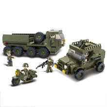 Compatible legoingly Military headquarters a transport ww2 Tank Armored vehicle building Blocks boys child toys world war