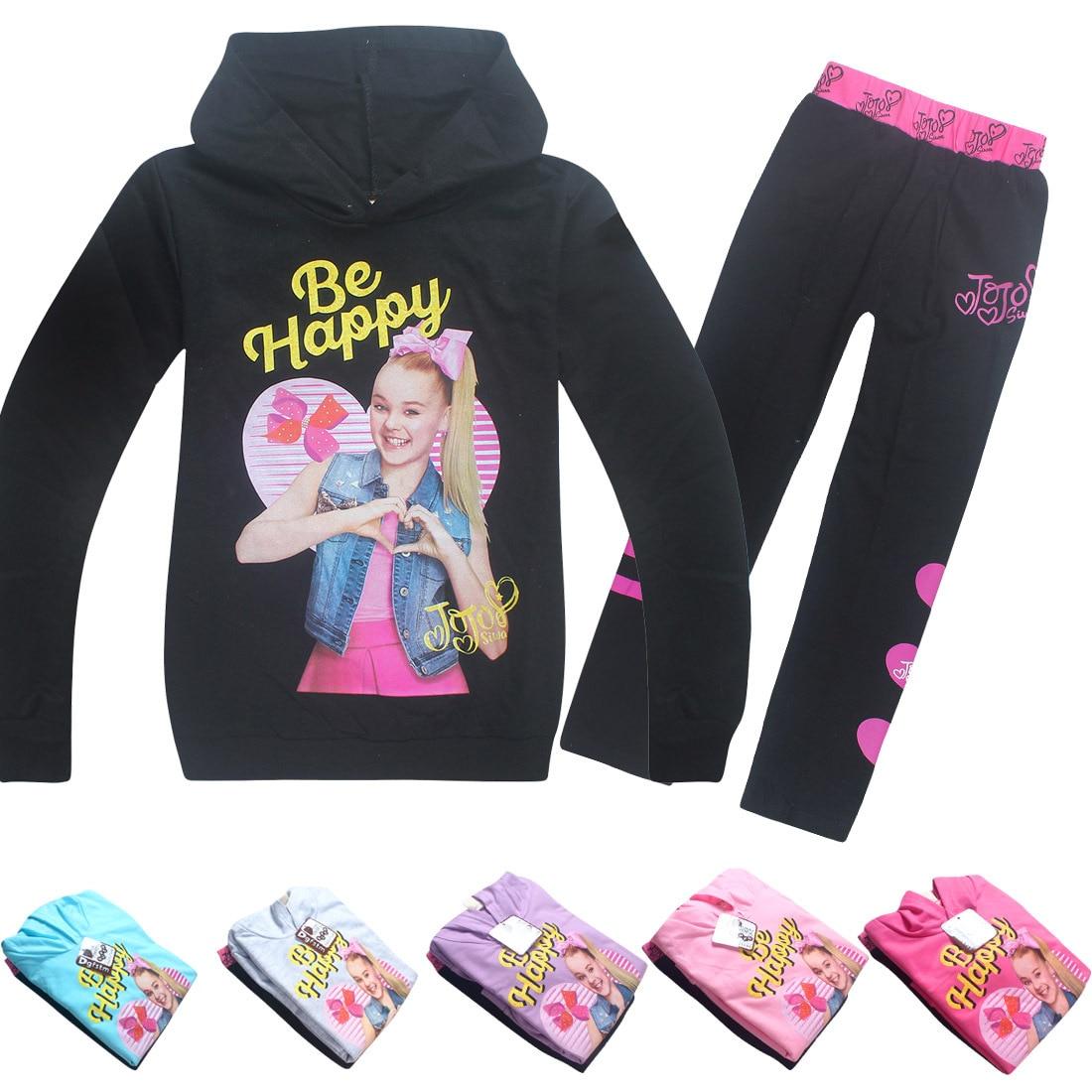 JOJO Siwa/комплекты для малышей Модная уличная одежда, рубашка с длинными рукавами пальто на молнии Одежда для маленьких девочек из 2 предметов