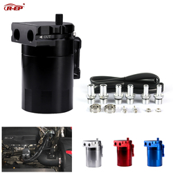 R-EP Oil Catch Can Universal Fuel Tank for Racing Car Aluminum Oil Reservoir Tank XH-JT052