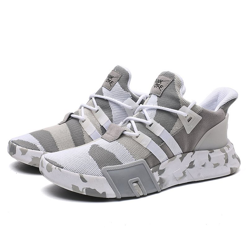 Man Casual Shoes Men White Summer Mesh Breathable Camouflage Red Trendy Street School Lace Up Run Fitness Blue Spring Shoes Male in Men 39 s Vulcanize Shoes from Shoes