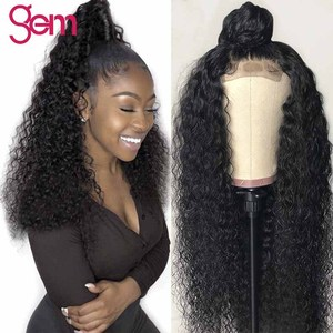 10 - 30 inch Curly Human Hair Wig 4x4 Lace Closure Human Hair Wigs Peruvian Remy Hair For Women 4x4 Deep Wave Lace Closure Wig(China)