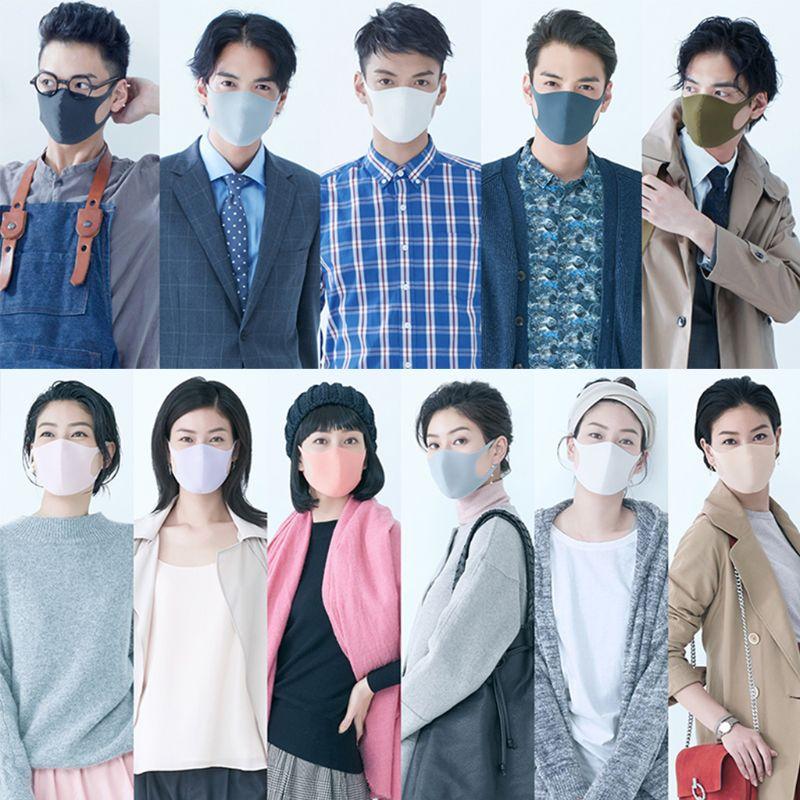 3Pc Anti Virus Sponge Mouth Mask Washable Dustproof Reusable Face Mask Adult Kid N1HB