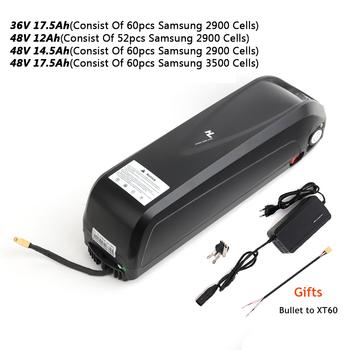 E-bike bateria litowa SAMSUNG komórki 36V 48V 52V 12-17 5Ah bateria do Bafang 750W 1000W Mid Hub napęd elektryczny zestaw silnika rowerowego tanie i dobre opinie CN (pochodzenie) 10-20ah 48 v 60pcs SAMSUNG 2900 Cells 52pcs SAMSUNG 2900 Cells 65pcs SAMSUNG 2900 Cells 65pcs SAMSUNG 3500 Cells