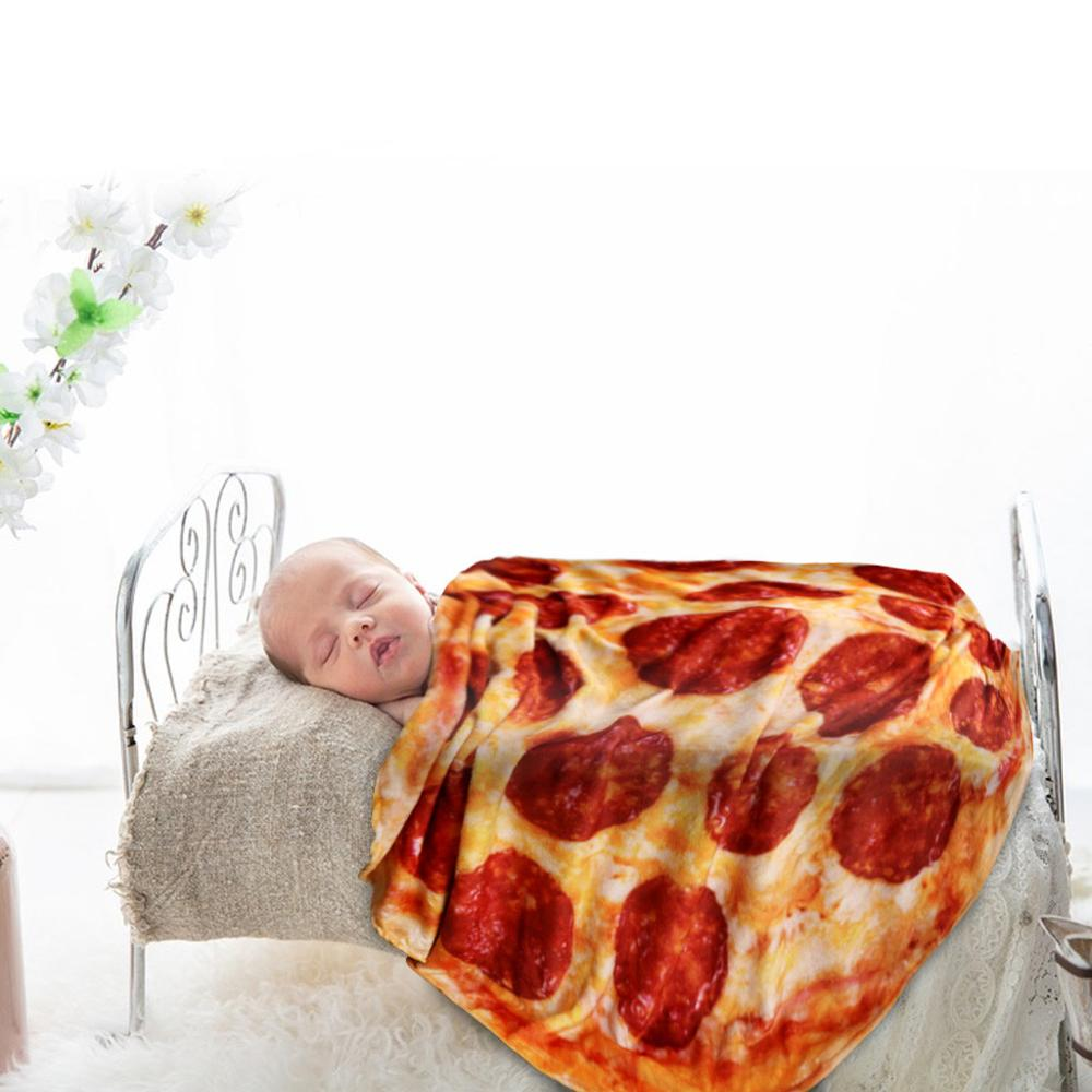 Pizza Design Burrito Blankets Use Indoors Or Outdoors For Sofa and Bed 2