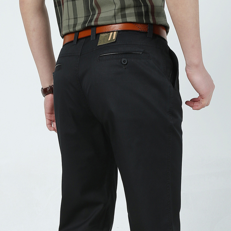 Wolf Warriors Summer Wear Straight-Cut Business Casual Pants Middle-aged Men'S Wear Thin Men's Trousers Sjp6601