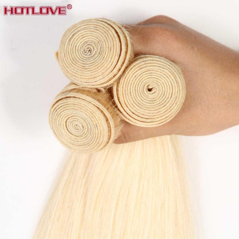 Cabelo brasileiro 613 mel loira cabelo reto do cabelo humano 1/3/4 pacotes 8-26 polegadas pacotes tecer misturado extensões de cabelo remy