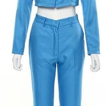 Black 2 Piece Set Suit (Short Coat+Pants) Lady Women's