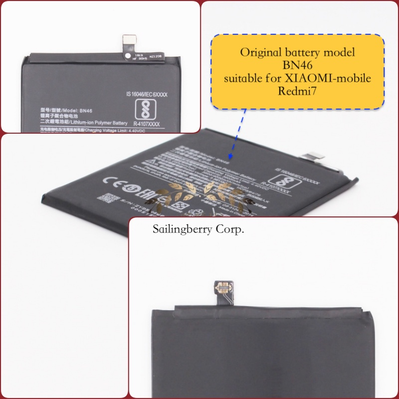 Original battery suitable for XIAOMI-mobile Redmi7 with battery model BN46(It is safe to check before placing order image