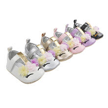 Shoes for Daily Party Baby-Girl Sweet Loafers Flats Prewalkers Flower Jane Soft-Sole