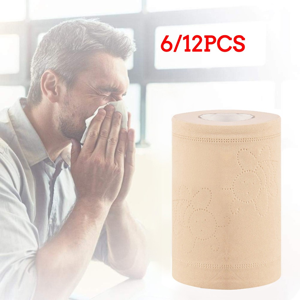 12Rolls Hand Clean Toilet Tissue Solid Paper Napkin Serviettes 4 Ply C Fold Paper Tissues Prevent Flu Soft Strong Toilettenpapie