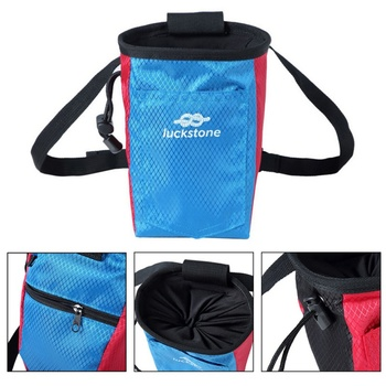 Climbing Chalk Bag Magnesium Powder Storage Pouch With Waist Belt Rock Weightlifting Camping Hiking Climbing Bags Accessories цена 2017