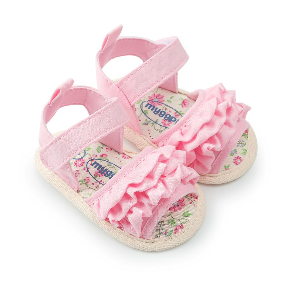 Summer Baby Sandals Girls Shoes Cotton Breathable Flowers Cute Girls Sandals For baby Shoes  Toddler Kids Soft Sandals