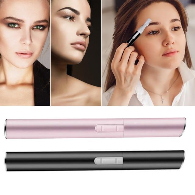 Electric Face Eyebrows Scissors Portable Armpit Leg Hair Remover Mini Trimmer Body Skin Shaver Razor Epilator