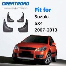 Palas Carro Para Suzuki OE Styled SX4 Crossover 2007 2008 2009 201 2011 2012 2013 Mudflaps Hatchback Respingo Guardas Mud Flap