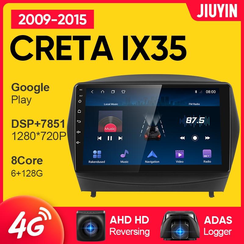 Автомагнитола JIUYIN для Hyundai Tucson 2 IX35 2009-2015, мультимедийный видеоплеер с GPS-навигацией, 2 din dvd