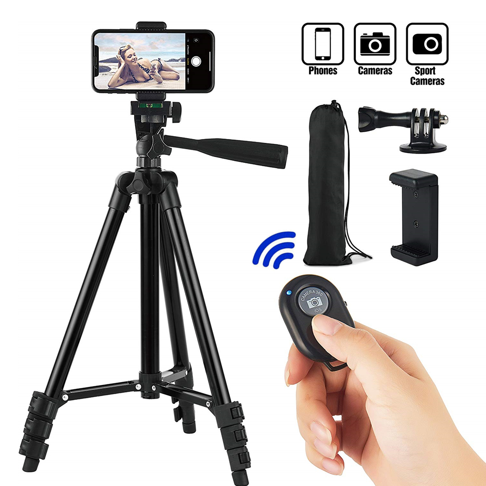 Smartphone Tripod Cellphone Tripod For Phone Tripod For Mobile Tripie For Cell Phone Portable Stand Holder Selfie Picture image