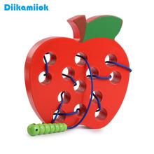 Kids Wooden Toy Caterpillar Eating Fruit Maze Game Baby Threading Rope Training Life Skills Puzzle Educational Toys for Children cheap Diikamiiok CN(Origin) China certified (3C) OY-I115 do not eat 2-4 Years 5-7 Years Animals Nature Transportation Threading training toy