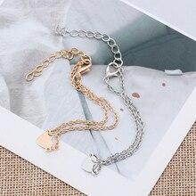 Стильный женский золотой браслет в форме сердца для девушек, браслет в форме сердца, подарок на каждый день