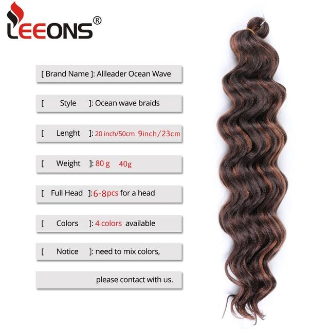 Leeons New Ocean Wave Crochet Braids Hair 9Inch Water WaveCrochet Braids Hair Synthetic Crochet Braids Hair Extensions Natural