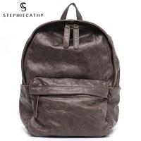 SC Quality Oil Wax Leather&Canva Backpack For Women Vintage Style Travel Bag Functional Pocket Shoulder Bag School Life Knapsack