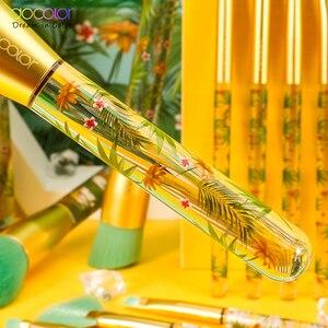 Image 5 - Docolor 14 pçs pincéis de maquiagem conjunto beleza fundação pó sombra compõem escova cabelo sintético cosméticos compõem escova ferramenta