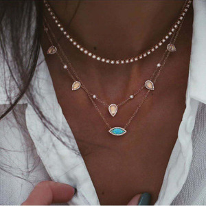 Женское Ожерелье HIBRIDE, модное тонкое ожерелье-чокер с кристаллами, подарок для девушки и жены, P29