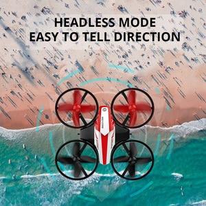 Image 4 - La piedra sagrada HS210 Mini RC Drone juguete sin Drones Mini RC Quadrocopter Quadcopter Dron una llave tierra Auto flotando helicóptero