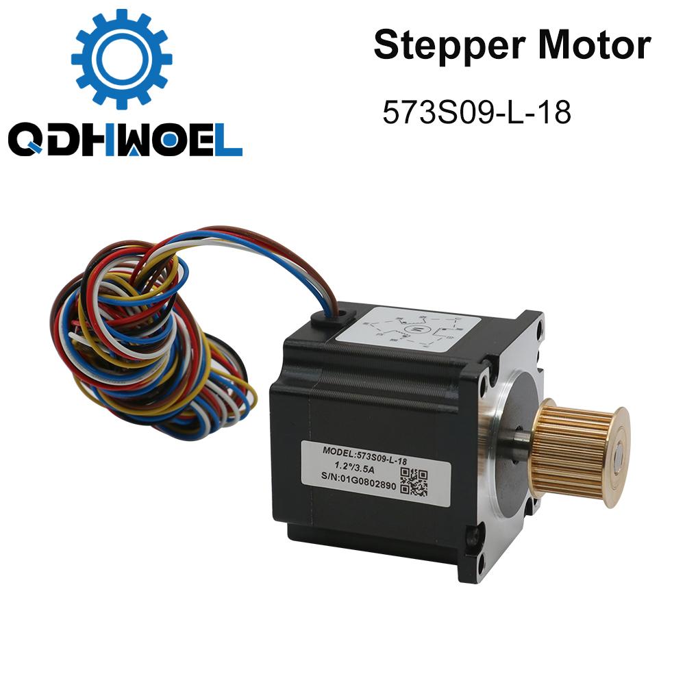 H736ca13d75b84f39b77d350b20a91c48s - QDHWOEL Leadshine 3 Phase Stepper Motor 573S09-L-18 for NEMA23 3.5A Length 50mm Shaft 6.35mm