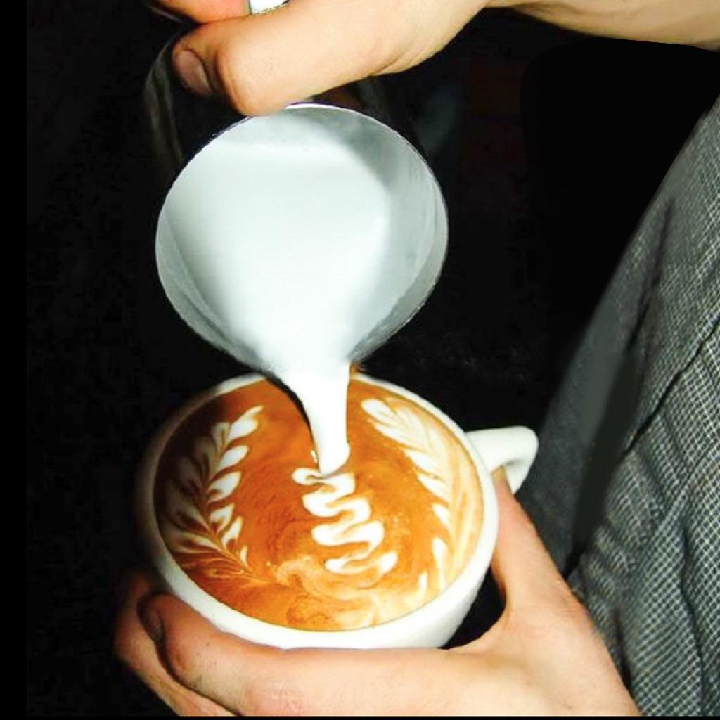 Прочный молочный кувшин 150-1000 мл из нержавеющей стали кувшин для крема Pull Flower Cup вспениватель молока для кофе латте арт контейнер кофейная по...