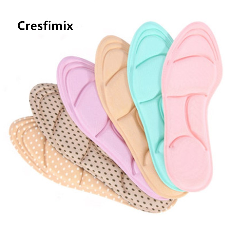 Semelle De Chaussures Women Fashion Light Weight High Quality Sponge Anti Skid Foot Insoles Ladies Anti Smell Insoles E5588