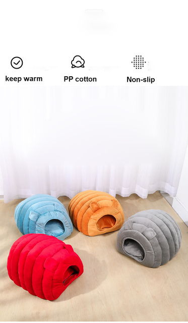Cozy Puppy & Kitten Caterpillar Soft & Comfortable Kennel   2