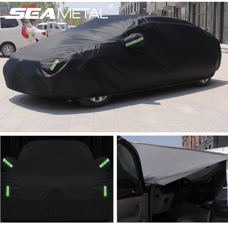 Exterior Car Cover Sunshade Protection Outdoor Car Covers Waterproof Dustproof Sun Shade Anti-UV Auto Accessories for Sedan SUV