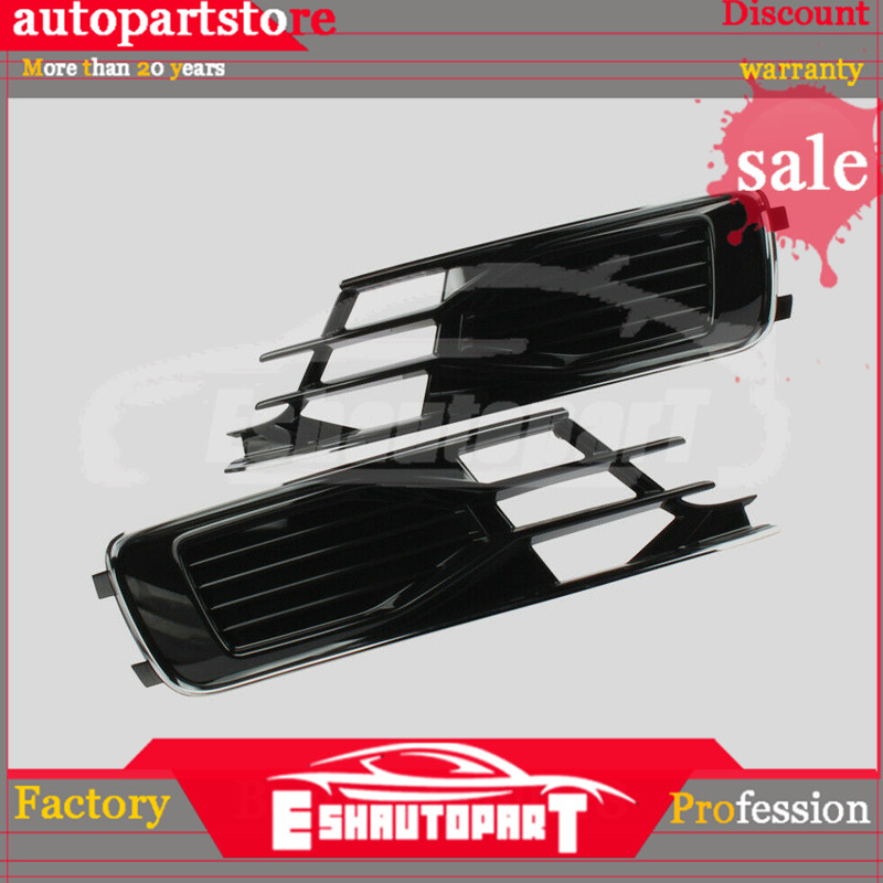 4G0807647 4G0807648 For Audi A6 S6 Avant Quattro 2015 2016 New Pair Left+Right Front Bumper Lower Grill image
