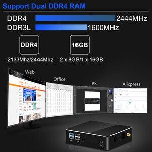 Image 4 - Mini PC Intel Core i7 8565U i5 8265U di ottava generazione CPU 2 * DDR4 M.2SSD HDMI DP 4K 60fps 6 * USB Type C WiFi Window 10 8 Computer HTPC Nettop i3 8145U Computer Desktop industriale USB3.0 USB2.0 Micro2 MINIPC Sot