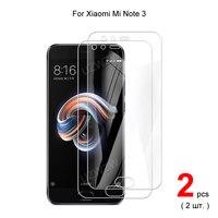 Protectores de pantalla de vidrio templado para móvil, película protectora HD transparente para Xiaomi Mi Note 3 Premium 2.5D 0,26mm