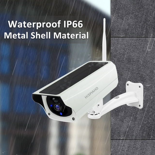 WIFI Wireless Solar Camera 1080P Metal Shell Outdoor Security Surveillance CCTV Bullet 2MP HD Battery IP Camera CamHi Pro APP 4