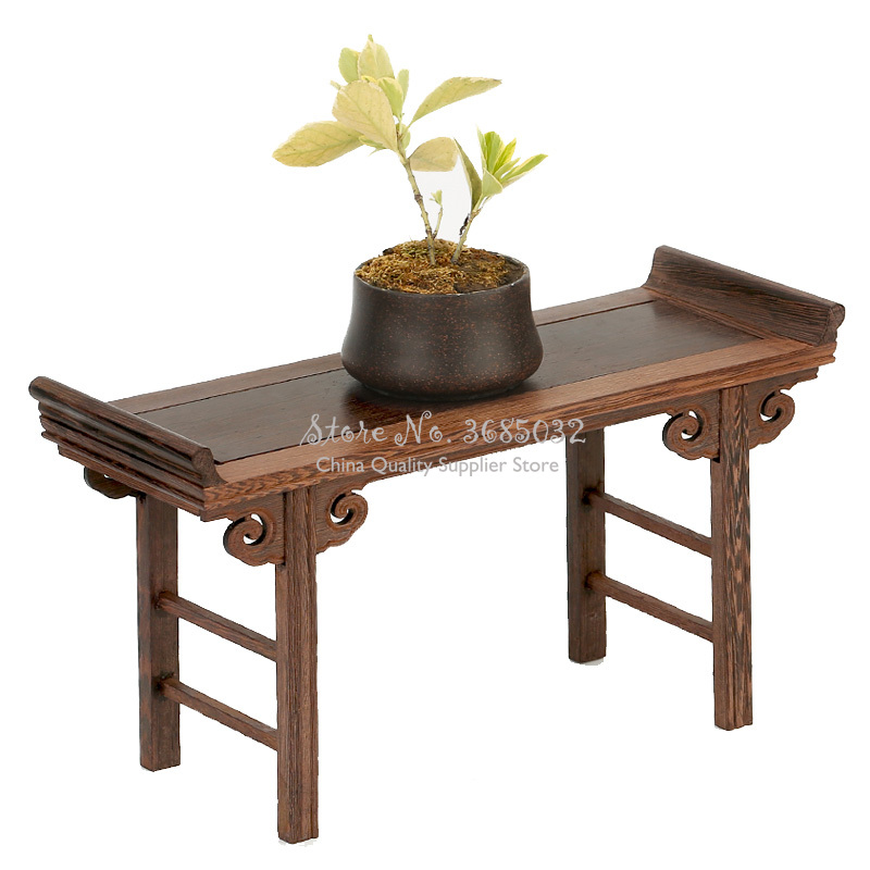 For Sell Chinese Low Tea Table Redwood Small Wooden Carving Decoration Base Vase Buddha Kistler Display Rack For Tea Coffee