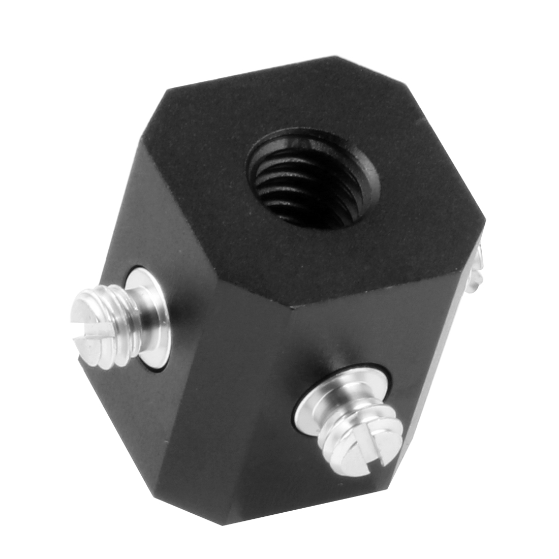 BGNing 1//4 3//8 Inch Thread Screw Bracket Cold Shoe Mount Adapter For  Magic Arm