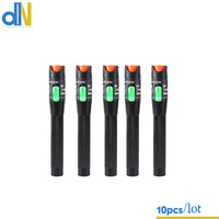 10pcs/lot VFL 30mW Pen Type Aluminum Alloy Visual Fault Locator 30KM, Fiber Optic Cable Tester Meter for CATV Telecommunication