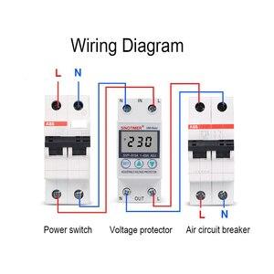 Image 5 - 63A 220 24v din レール可変電圧プロテクターリレー電流制限保護と電力計 kwh 電力量計消費電力
