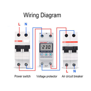 Image 5 - 63A 220V Din Rail Adjustable Voltage Protector Relay Current Limit Protection with Wattmeter kWh Energy Meter Power Consumption