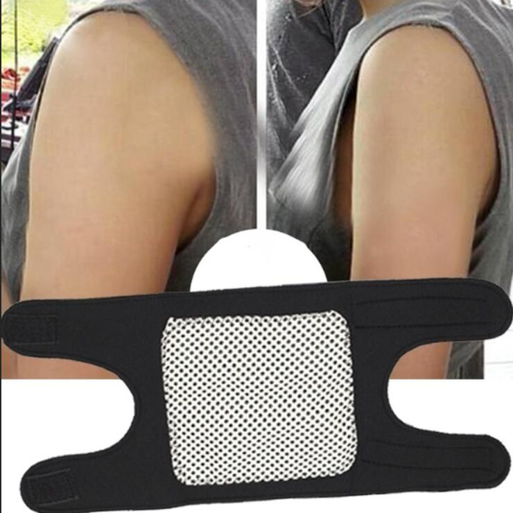 Magnetic Therapy Self-Heating Arm Elbow Brace Support Belt Tourmaline Pain Relief Slimming Weight Loss Strap Bandage Face Lift