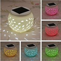 Lamp Solar Charging LED Colorful Smart Light Control Hollow Out Romantic Ceramics Living Room Light Night Table Lamp Home Decor