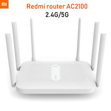 Xiaomi Redmi AC2100 Router Gigabit 2.4G 5.0GHz Dual Band 2033Mbps Wireless Router Wifi Repeater With 6 High Gain Antennas Wider
